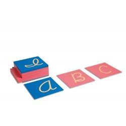 Sandpaper capitals: US cursive