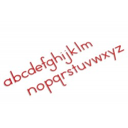 Medium moveable alphabet: international print- red