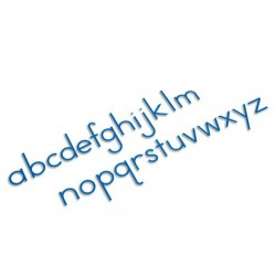 Medium moveable alphabet: international print- blue