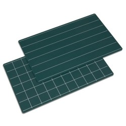 Green boards with lines and squares: set of 2