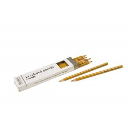 3- sided inset pencils: gold