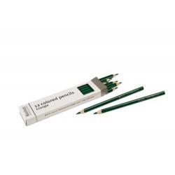 3- sided inset pencils: dark green