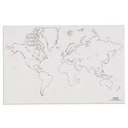 Карта на света: Контур (50)