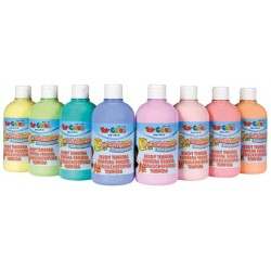 Gouache Pastel, set of 8 bottles, 500 ml