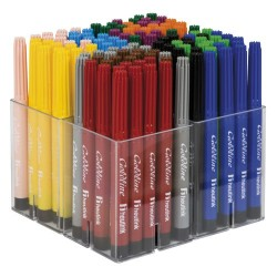 Felt tip pens medium point Goldline, Box of 120 pieces. 12 assorted colours