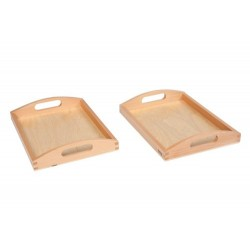Wooden Tray Small: Set Of 2