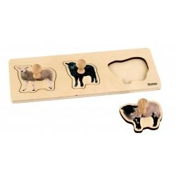 Toddler Puzzle: 3 Sheep