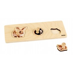 Toddler Puzzle: 3 Rodents