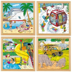 Holiday puzzles - Complete set of 4