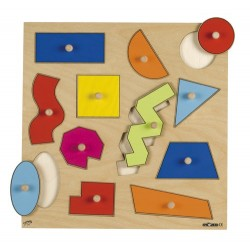 Inlay board - geometric shapes (12 shapes)