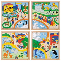 Zoo puzzles - complete set of 4