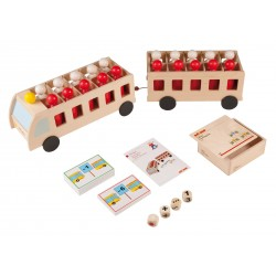 Counting bus with four-wheel trailer - maxi