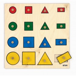 Geometric shapes board