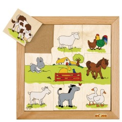 Animal puzzles - Farmyard