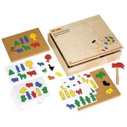Happy hammer - 143 plastic shapes