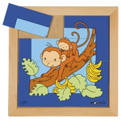 Animal puzzles - Mother and baby: Monkey (8 pieces)