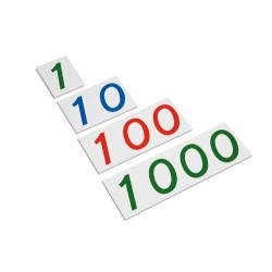Plastic number cards: large 1-1000