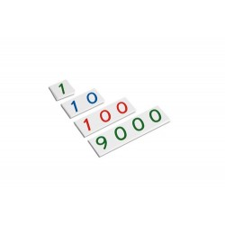 Plastic number cards: small 1-9000