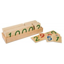 Wooden number cards: large 1-9000