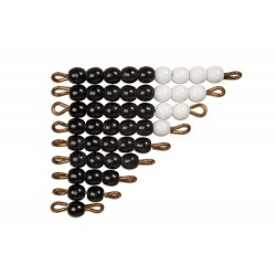 Black and white bead stairs - individual beads glass: 1 set