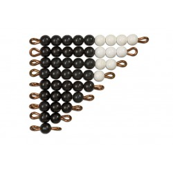 Black and white bead stairs - individual beads nylon: 1 set