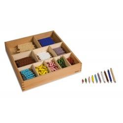 Decanomial bead bar box: individual beads glass