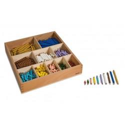 Кутия стълбчета до 10 мъниста (pvc/мат)