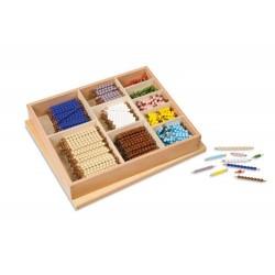 Mutltiplication bead bar layout box: individual beads glass
