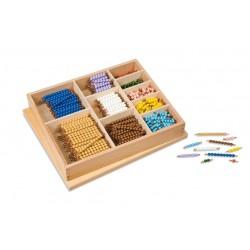Кутия с пръчици с мъниста (pvc/мат) за умножение