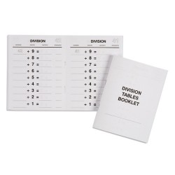 Division tables booklets