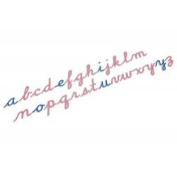 Large moveable alphabet: US cursive