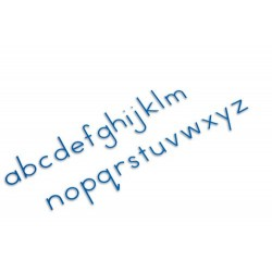 Small moveable alphabet: international print- red