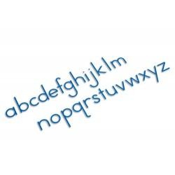 Medium moveable alphabet: international print- blue