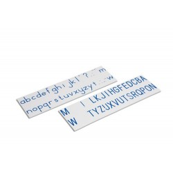 Printed alphabet: international print- blue