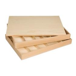 Wooden movable alphabet box