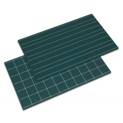 Green boards with double lines and squares: set of 2