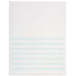 Writing paper: green lines - 8.5x11 in (500)