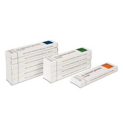 Set of 11 dozen 3-sided inset pencils: 11 colors