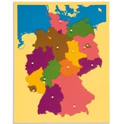 Карта пъзел: Германия