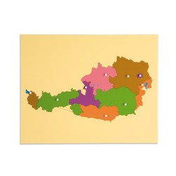 Карта пъзел: Австрия
