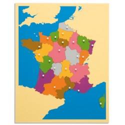 Карта пъзел: Франция