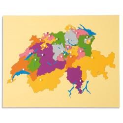 Карта пъзел: Швейцария