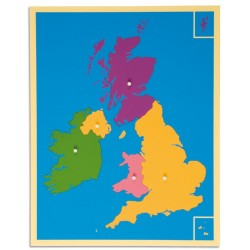 Карта пъзел: Великобритания