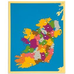Карта пъзел: Ирландия