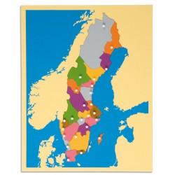 Карта пъзел: Швеция