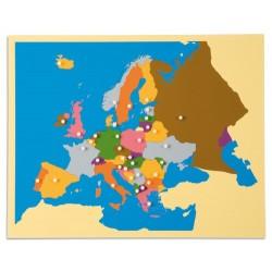 Карта пъзел: Европа