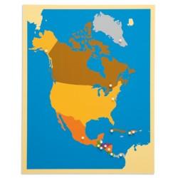 Карта пъзел: Северна Америка
