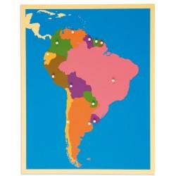Карта пъзел: Южна Америка