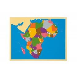 Карта пъзел: Африка