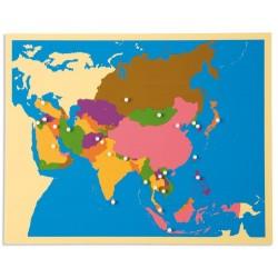 Карта пъзел: Азия